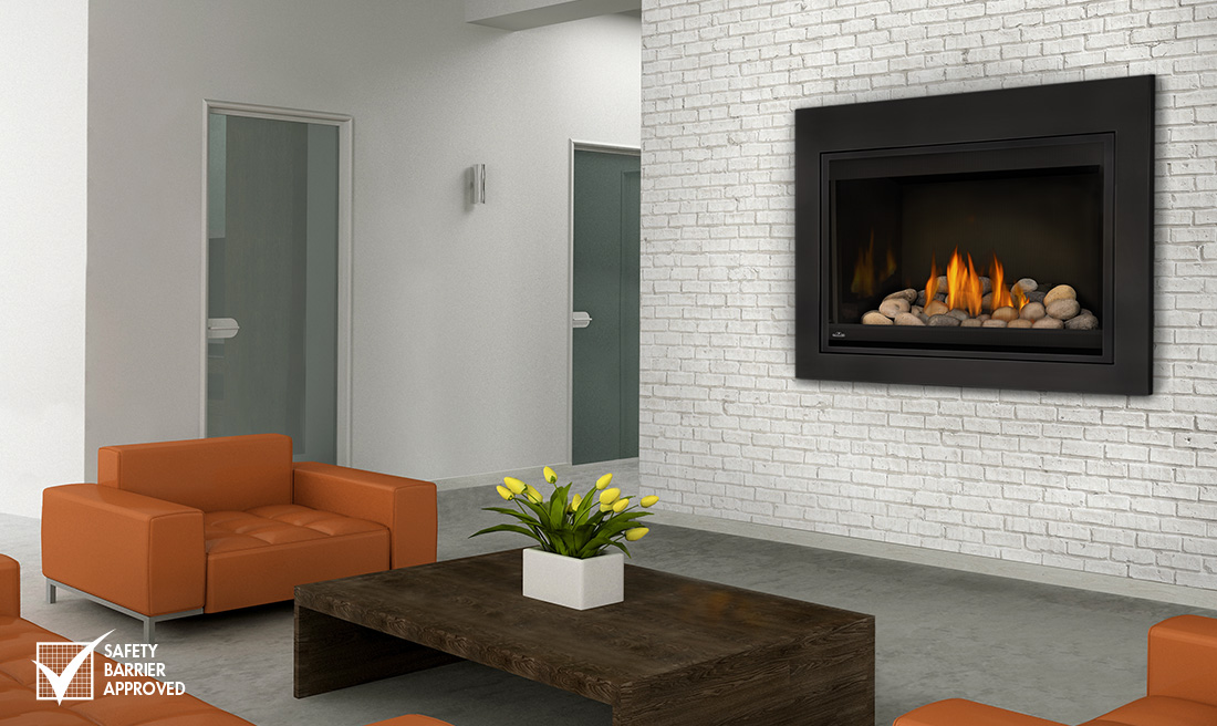 Napoleon Bgd36cfntrsb Grandville 36 Clean Face Direct Vent Fireplace