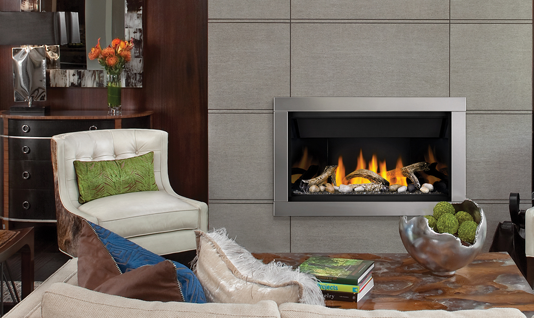Napoleon Ascent Bl36nte Direct Vent Linear Fireplace