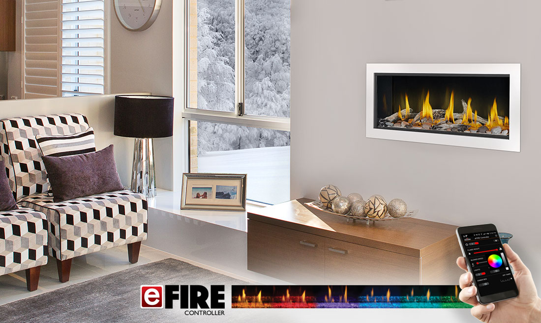 Fireplace Design linear fireplaces : Napoleon Vector LV38 Direct Vent Linear Fireplace
