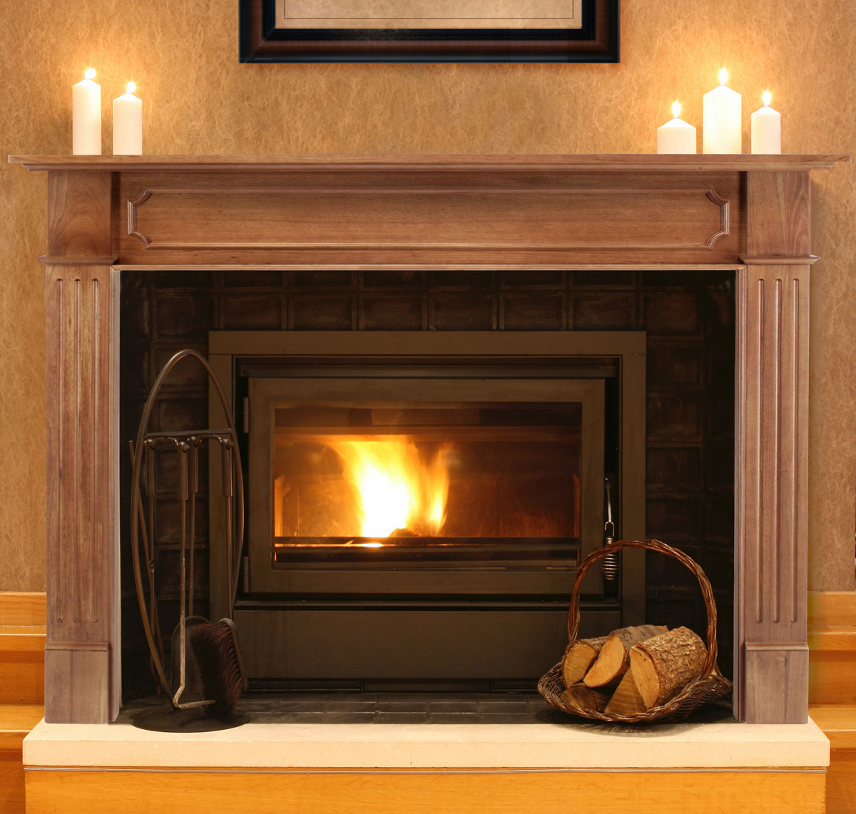 Pearl Alamo Fireplace Mantels