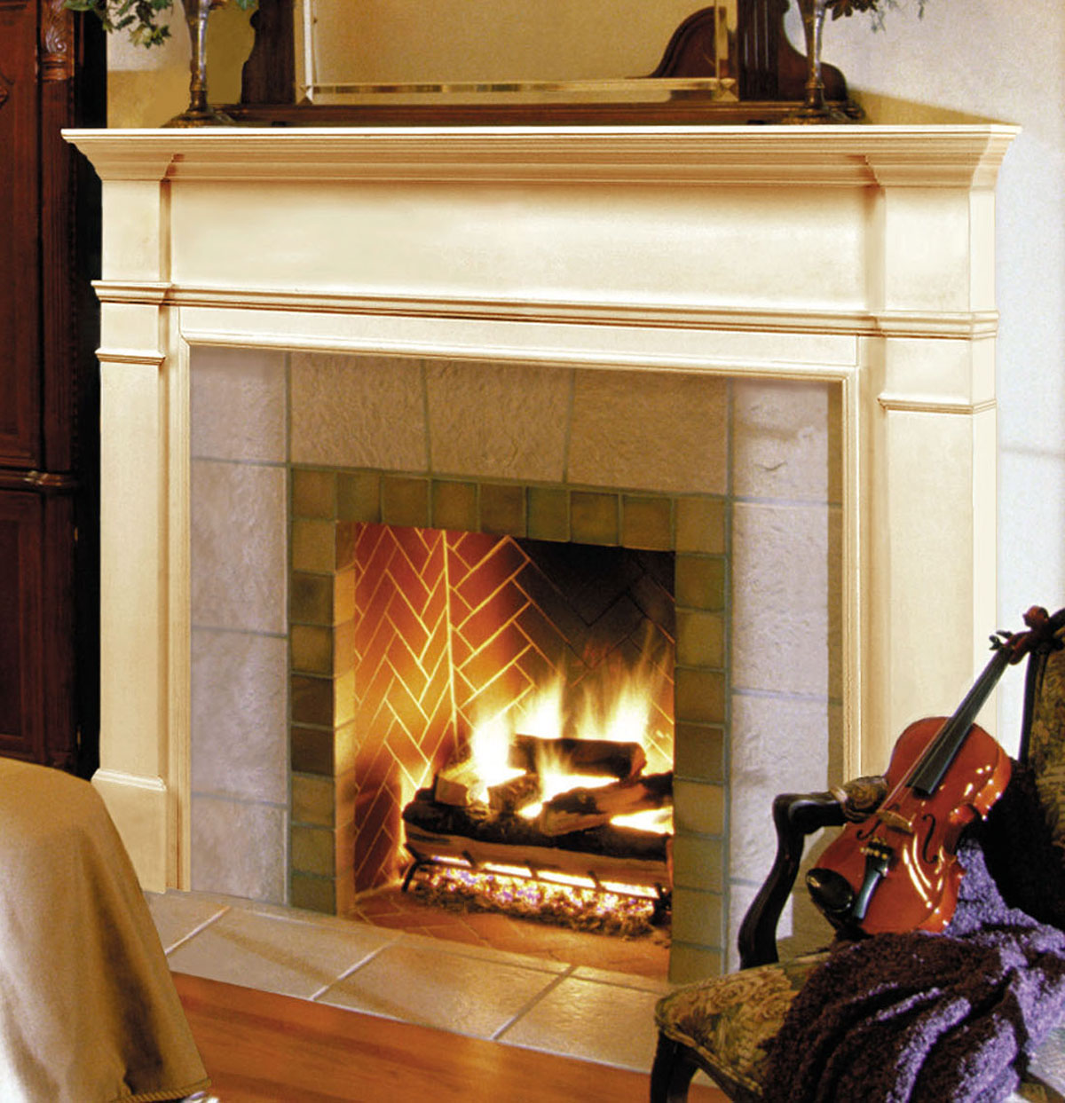 Pearl Windsor Fireplace Mantels