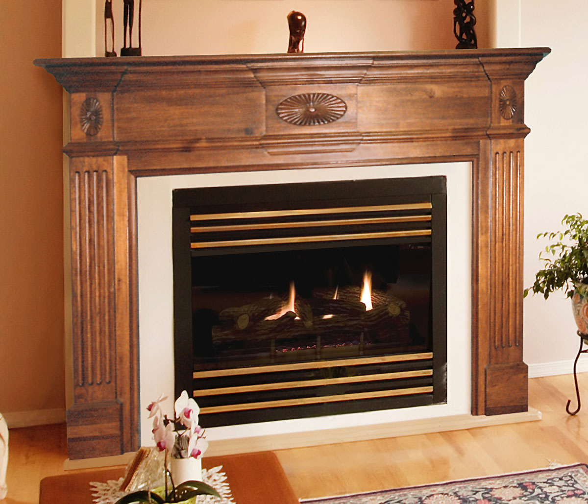Pearl Old Hickory Fireplace Mantels