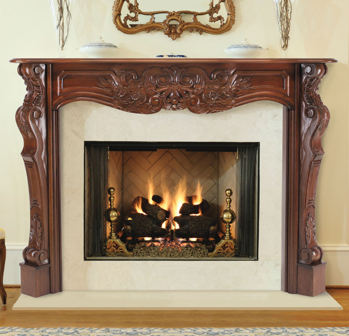 Pearl Deauville Fireplace Mantels