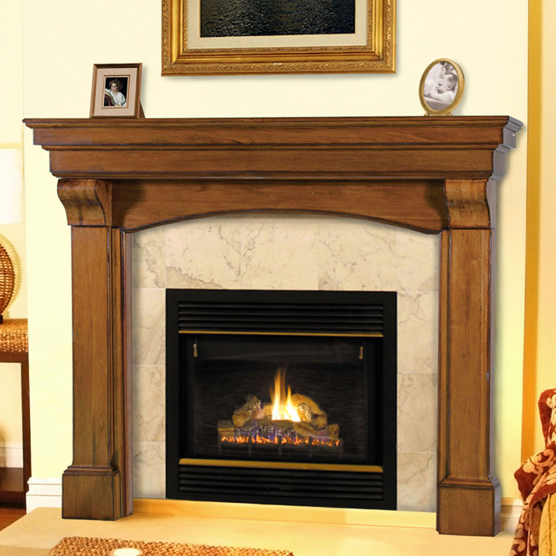 Pearl Blue Ridge Mantels