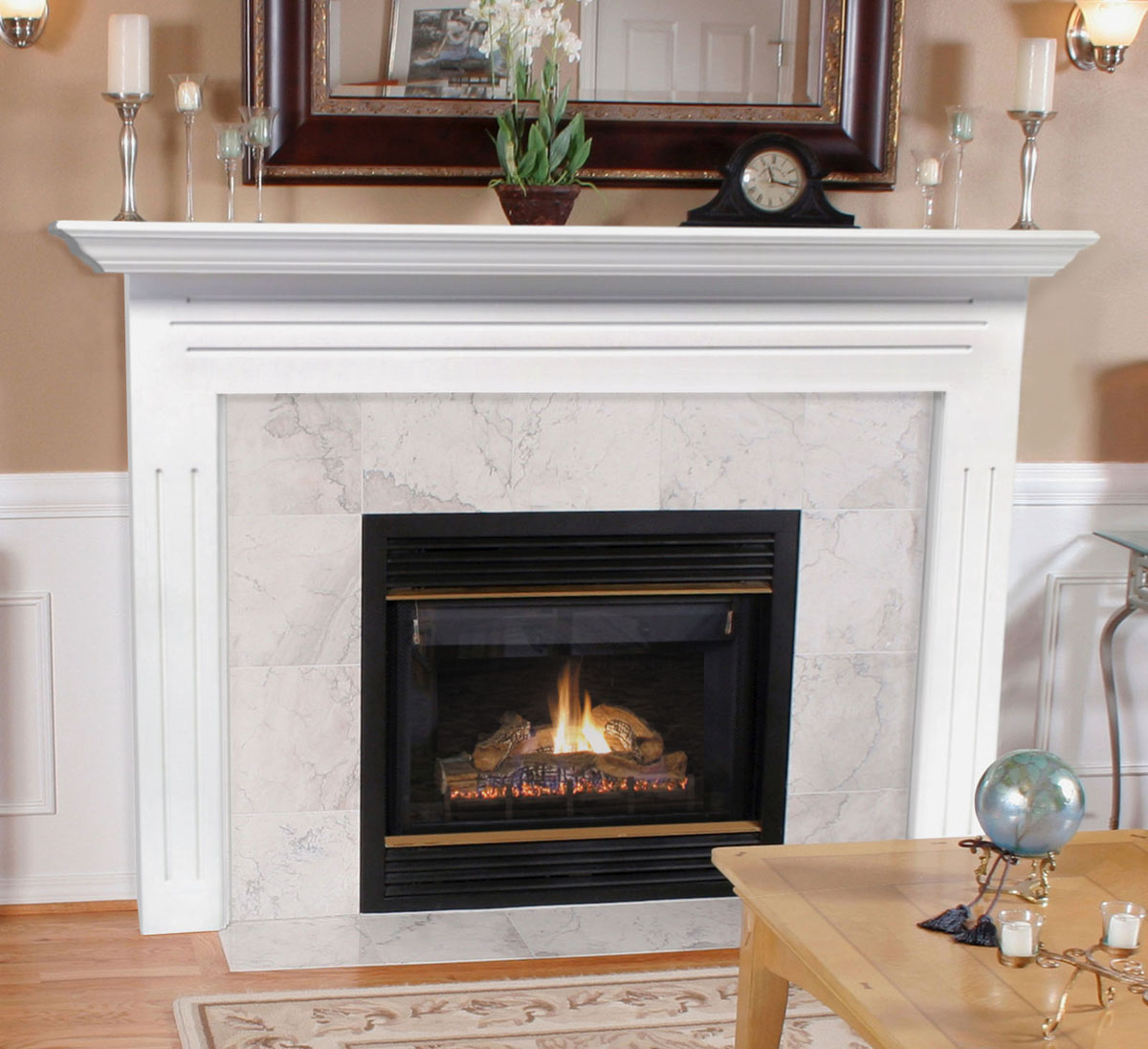 Pearl Newport Fireplace Mantel