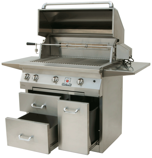 Solaire 36 Inch Free Standing Infrared Grills