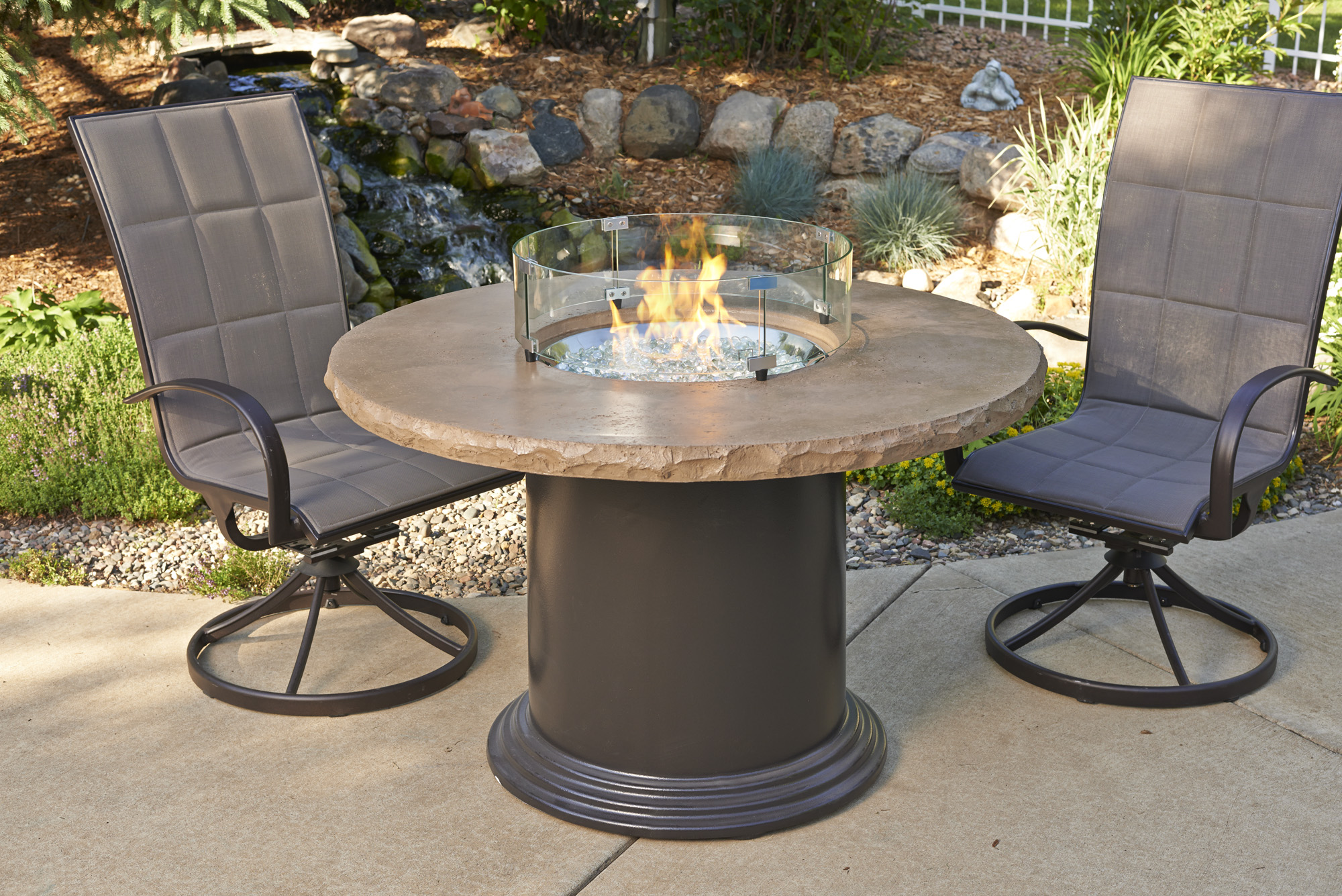Dining Height Fire Pit Tables