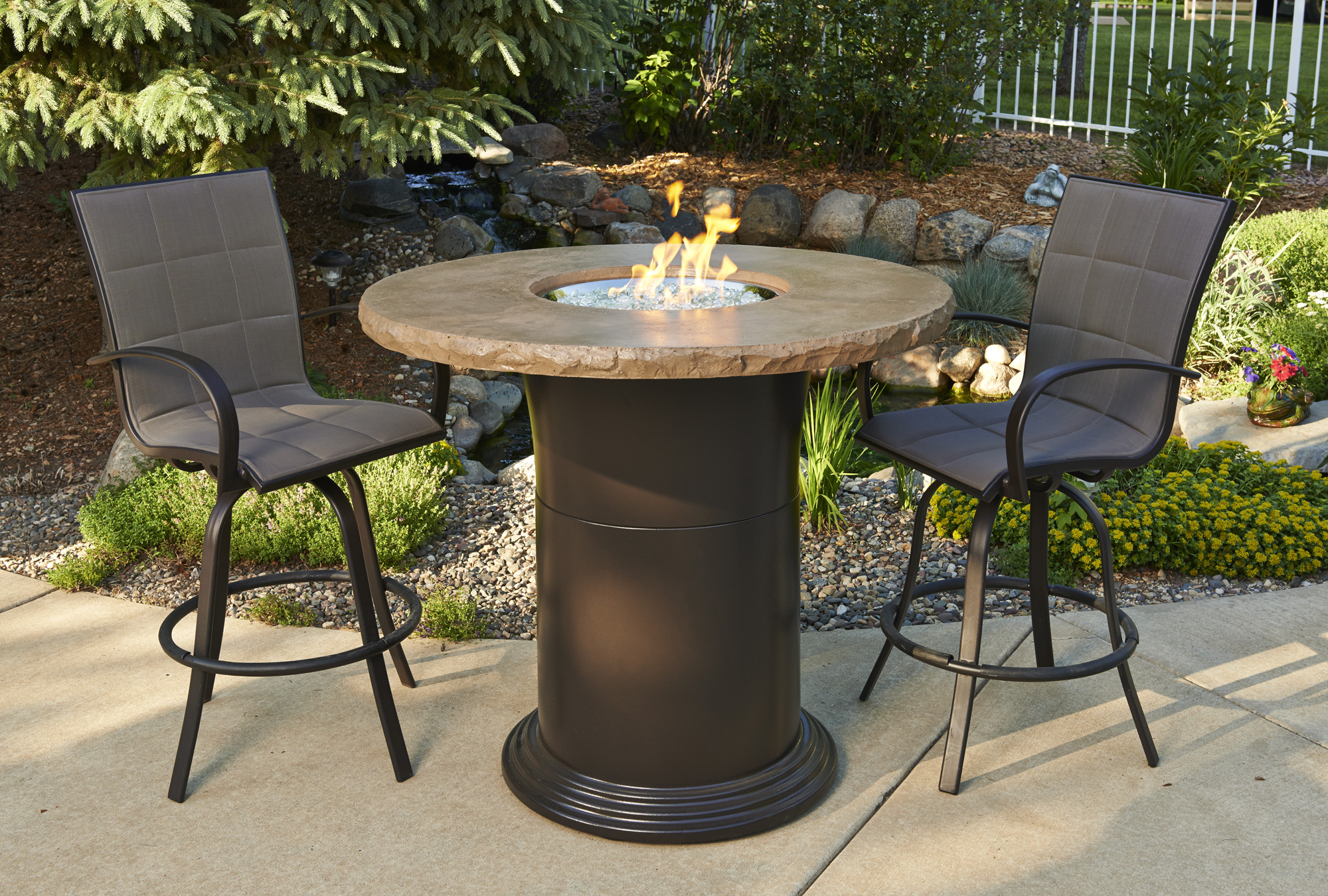 Pub Height Fire Pit Tables