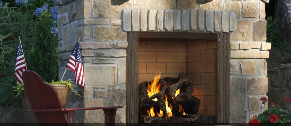 Majestic Castlewood Outdoor Wood Burning Fireplace