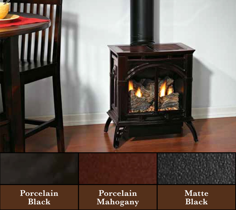 Heritage Compact Direct Vent Cast Iron Stove