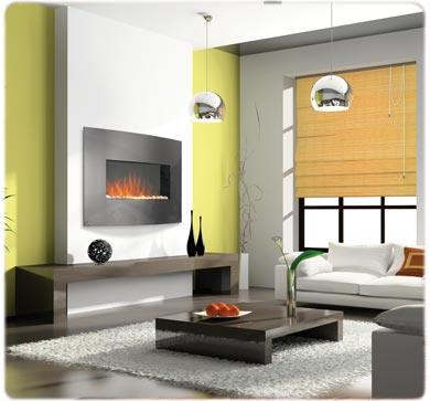 Napoleon EFC32H Built In Wall Mount Electric Fireplace with Curved Front