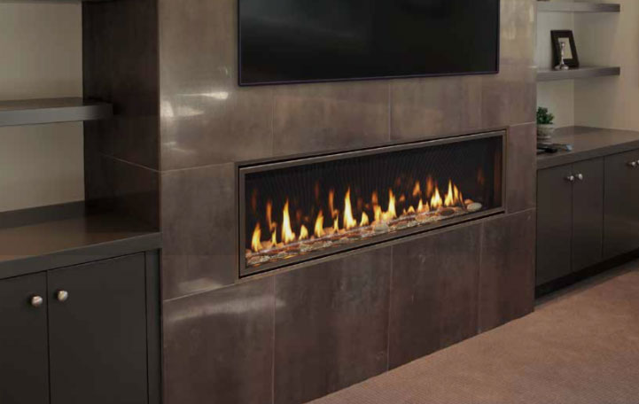 Majestic Echelon Ii Direct Vent Gas, Majestic Echelon See Thru Fireplace