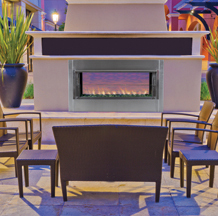 FMI Berlin Lights Outdoor Vent Free Fireplace