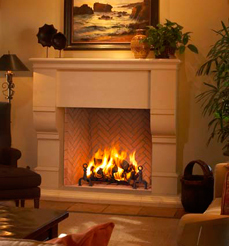 FMI Plantation Wood Burning Fireplace