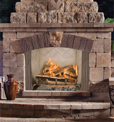 FMI Portofino Outdoor Stainless Wood Fireplaces