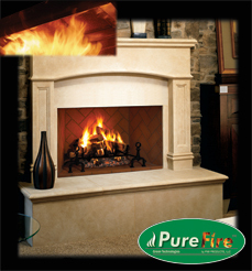 FMI PureFire Wood Burning Fireplaces