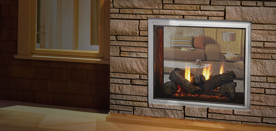 Fortress Indoor / Outdoor See-Thru Gas Fireplace