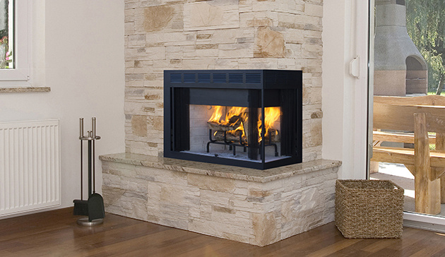 Superior Wrt40 Custom Series Multi Sided Wood Burning