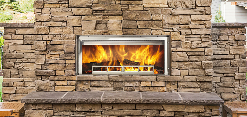 Longmire Outdoor Wood Fireplace