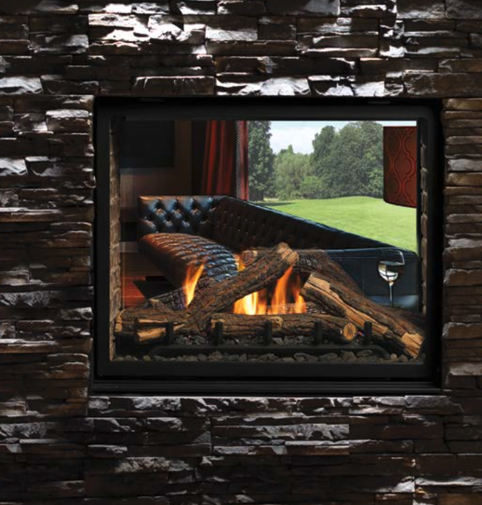 Kingsman MCVST42 See-Through Direct Vent Fireplace