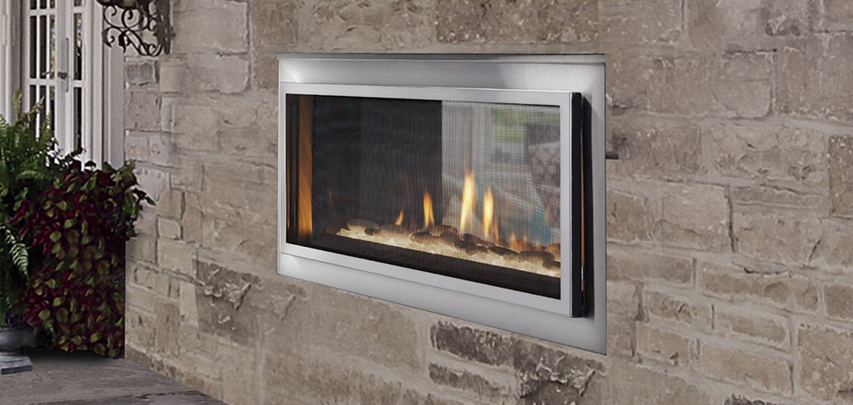 Mezzanine 36 Indoor/Outdoor See-Through Gas Fireplace