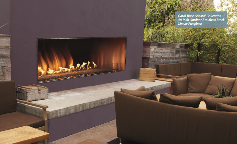 Outdoor Linear Vent Free Fireplace