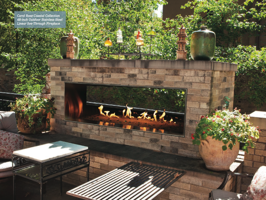 Empire Outdoor Linear Vent Free Fireplace