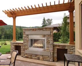 Empire White Mountain Hearth Outdoor Fireplace Systems