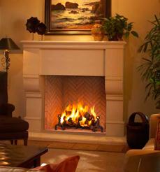 FMI Plantation Wood Burning Fireplace