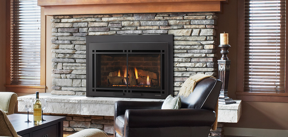 Majestic Ruby Direct Vent Gas Fireplace Insert