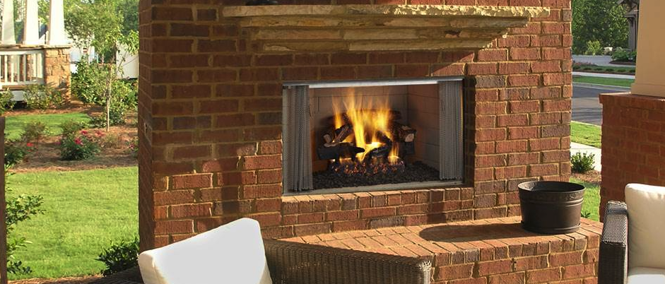 Villawood Outdoor Wood Burning Fireplace