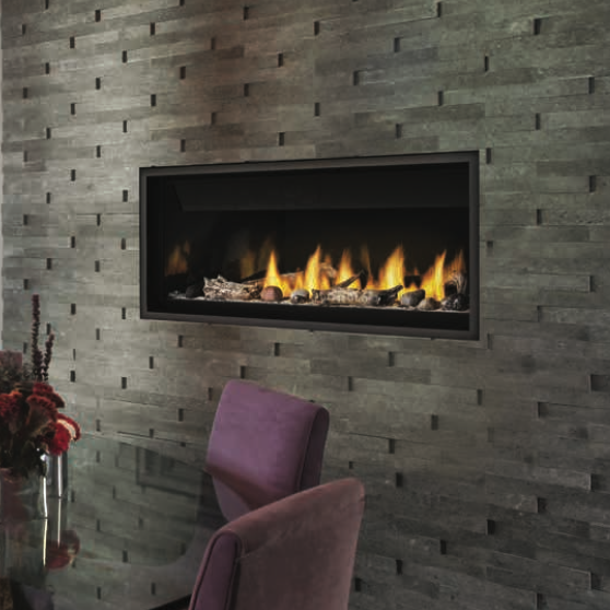 Napoleon Ascent BL46NTE Direct Vent Linear Fireplace