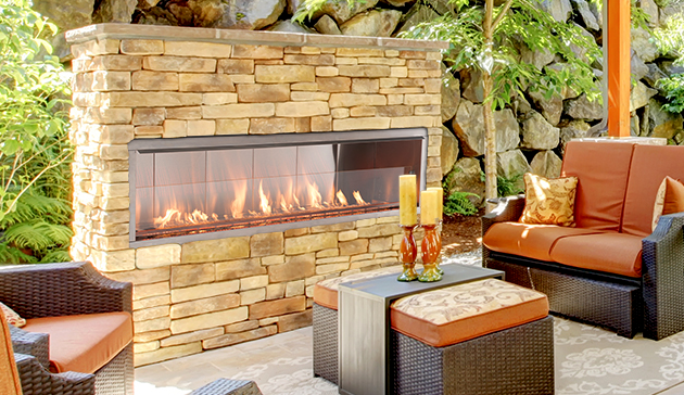 Superior VRE4600 Outdoor Vent Free Linear Fireplace