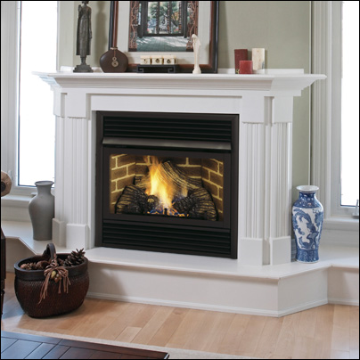 Majestic Vent Free Gas Fireplaces, Ventless Natural Gas Fireplace With Mantle