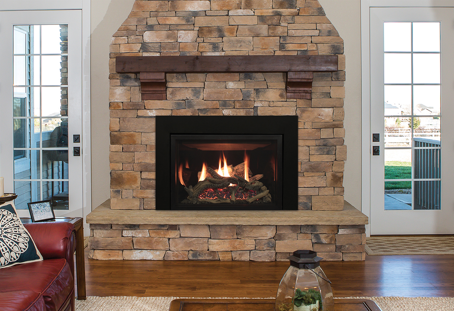 Rushmore Tru-Flame Direct-Vent Fireplace Inserts