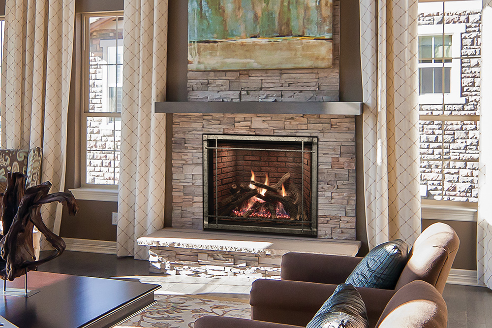 Rushmore Truflame Clean Face Direct Vent Fireplace