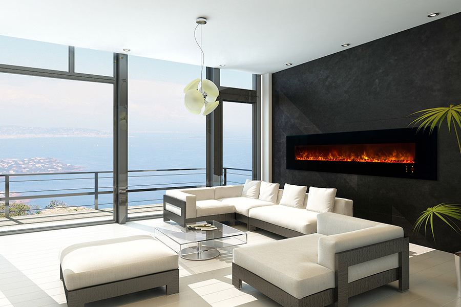 Electric Fireplace linear electric fireplace : Modern Flames AL100CLX2-G Series Linear Electric Fireplaces