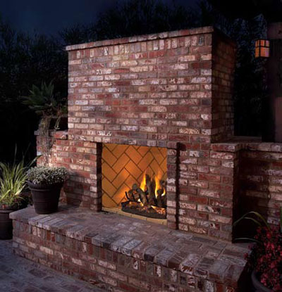 Fmi grand meridian vent free modular fireplace for Modular fireplace kits