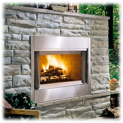 Majestic Al Fresco Outdoor Wood Fireplace