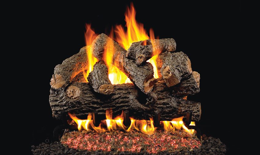 Peterson Real Fyre Charred Series Gas Log Sets