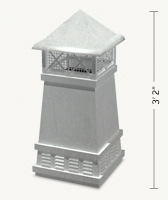 Knight II Square Freedom Gray Chimney Pot