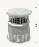 Pawn Octagon Freedom Gray Chimney Pot