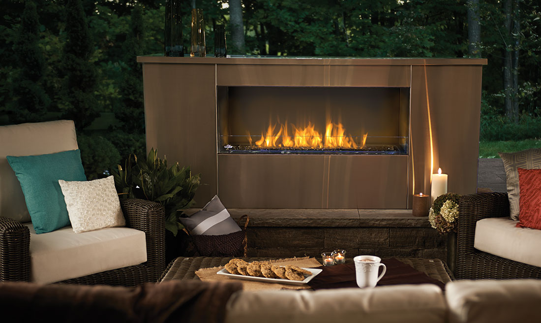 Napoleon GSS48 Galaxy Outdoor Linear Gas Fireplace