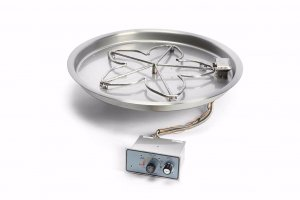 HPC Round Fire Pit Insert – Push Button Ignition with Flame Sensor